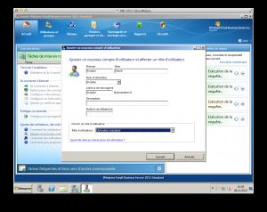 SBS 2011 Création d'un utilisateur