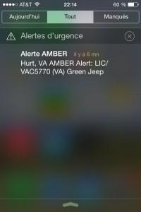 Alerte Enlèvement AMBER