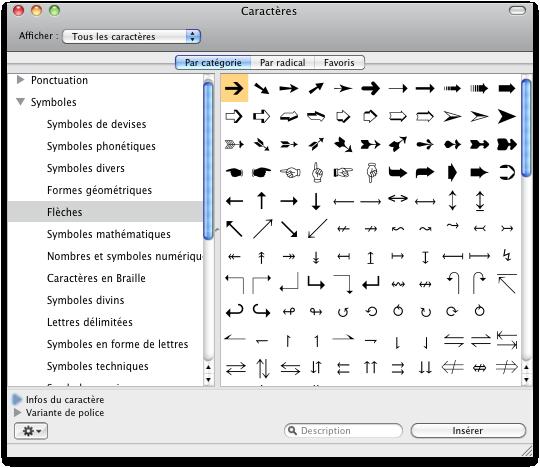 toucher inser clavier mac